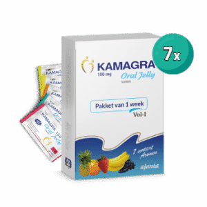 box of Kamagra Oral Jelly 7 sachets